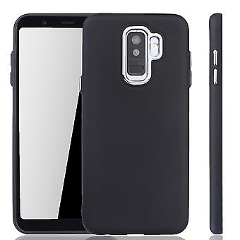 Samsung Galaxy A6 Plus Hülle - Handyhülle für Samsung Galaxy A6 Plus - Handy Case in Schwarz