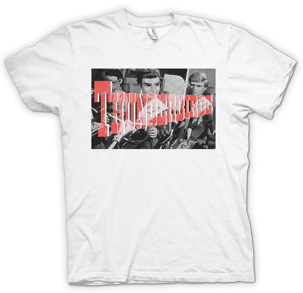 Womens T-shirt - Thunderbirds B&W - Cool Retro TV
