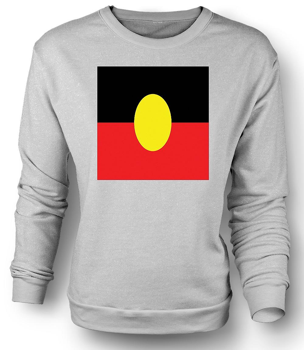 Mens Sweatshirt Australian Aboriginal Flag