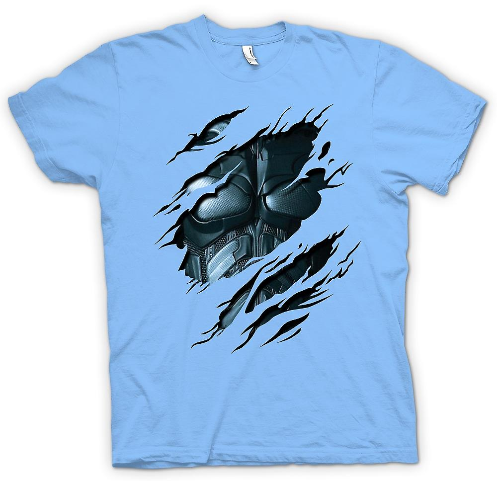 Mens T-shirt - Batman Suit - Superhero Ripped Design