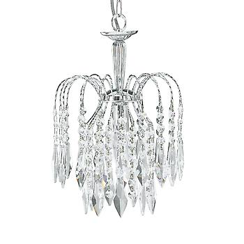 Searchlight 4271-1 Waterfall Chrome 1 Light Ceiling Pendant