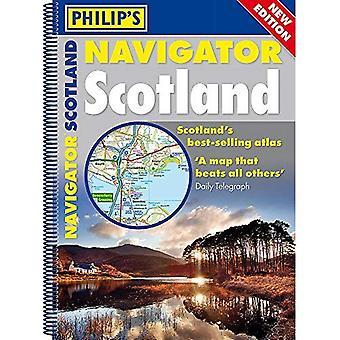 Philip's Navigator Scotland: (A4 Spiral binding) (Spiral bound)