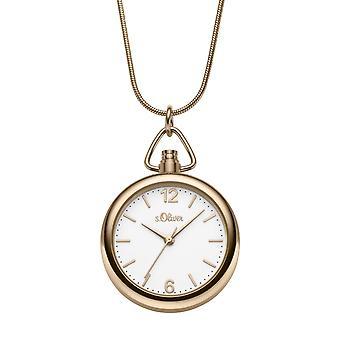 s.Oliver Damen Uhr Umhängeuhr Edelstahl SO-3793-MQ