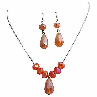 Hösten smycken vacker Orange kristaller höst färg kristaller smycken