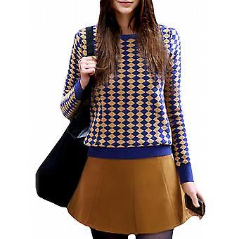 Waooh - zestaw sweter spódnica geometryczny wzór Prohgress
