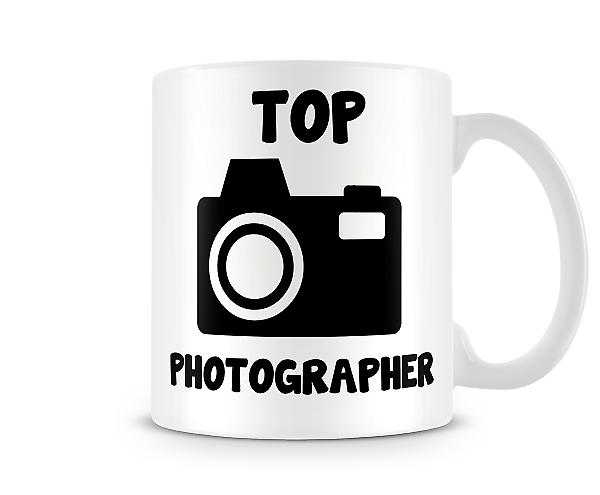 Decorative Writing Top Photographer Printed Text Mug