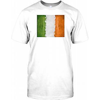 Irlandés Grunge efecto bandera - Eire niños T Shirt