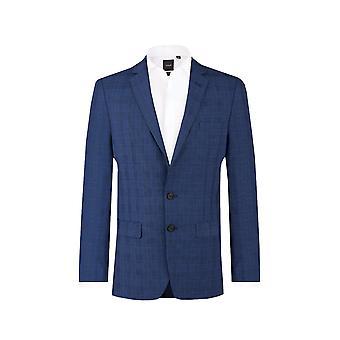 Добелл мужской пиджак синий флажок регулярные подходят Notch петличный
