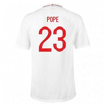 2018-2019 England Home Nike Football Shirt (Pope 23) - Kids