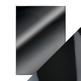 Craft Perfect A4 High Gloss Mirror Card Glossy Black Tonic Studios
