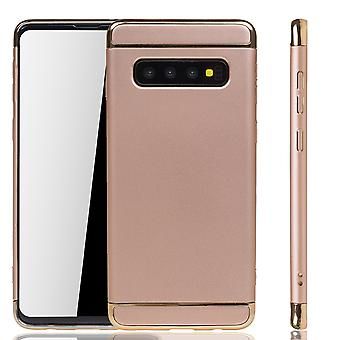 Samsung Galaxy S10 Plus Handy Hülle Schutz Case Bumper Hard Cover Gold