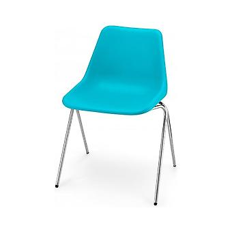 Hille Bright Blue Robin Day Poly Side Plastic Chair