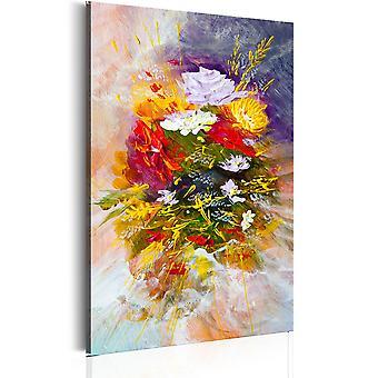 Kanfastryck-augusti blommor