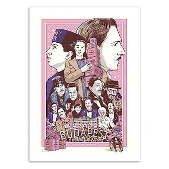 Art-Poster - The Grand Budapest Hotel - Joshua Budich 50 x 70 cm