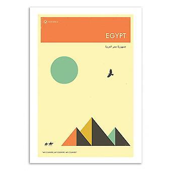 Art-poster-Egypten Travel affisch-Jazzberry blå 50 x 70 cm