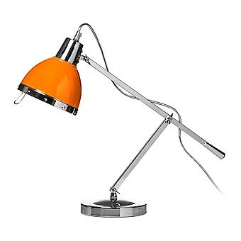 Premier Home Table Lamp, Chrome, Orange