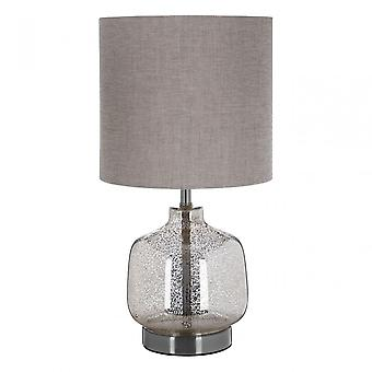 Premier Home Lucia Table Lamp, Fabric, Glass, Silver