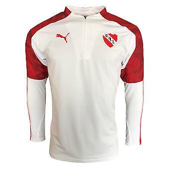 2019-2020 Independiente Puma Quarter Zip Training Top (Blanc)