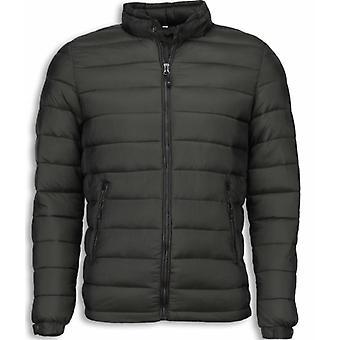 Winter coats-Mens Winter jacket short-Down jacket-Green