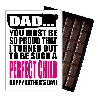 Funny Father's Day Gift Silly Chocolate Present Rude Card For Dad DADIYF110