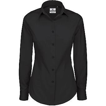 B&C Collection - B&C Black Tie Long Sleeve LSL - Workwear - Ladies Womens