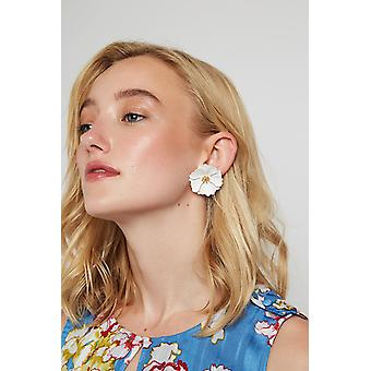 Louche Jalicia Flower Earring White
