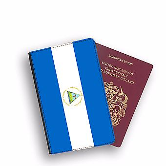 NICARAGUA Flag Passport Holder Style Case Cover Protective Wallet Flags design