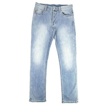 Emporio Armani J15 Regular Fit Washed Denim Jean 0943 Denim Blue