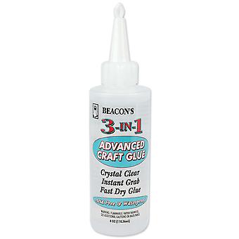 3 In 1 Advanced Craft Glue 4 Ounces 314Oz
