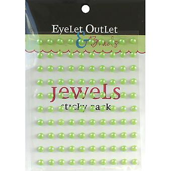 Bling Self Adhesive parels 5Mm 100 Pkg Green Eob5 Grn