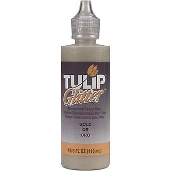 Tulip Glitter Dimensional Fabric Paint 4 Ounces Gold Flg 1 4
