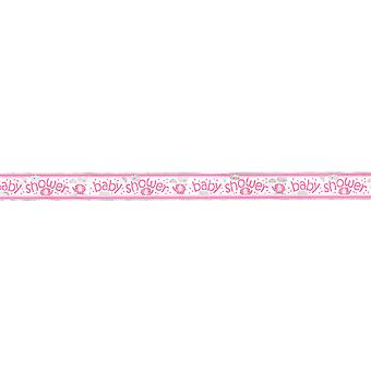 Umbrellaphants Pink Foil Banner - 3.65m for baby shower party