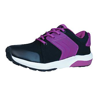 Geox J Asteroid G Girls Trainers / Shoes - Black Fuchsia