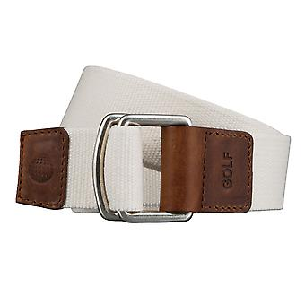 GOLF belts belts men's belts textile belt with double ring uni white 3497