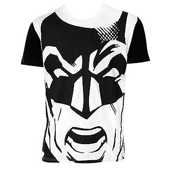 Batman Black And White Giant Face Tee Shirt