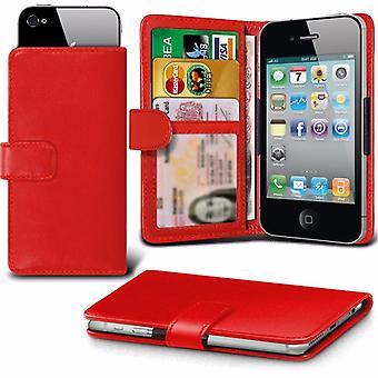 iTronixs - ZTE Blade A512 (5.2 inch) Case Clamp Style Wallet Protective PU Leather Case Cover - Red