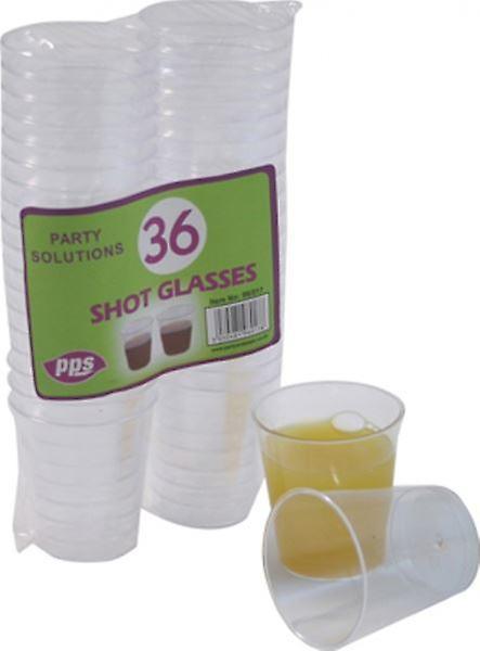 36pcs Plastic Shot Glasses 1oz Disposable Drink Alcohol Party Glass