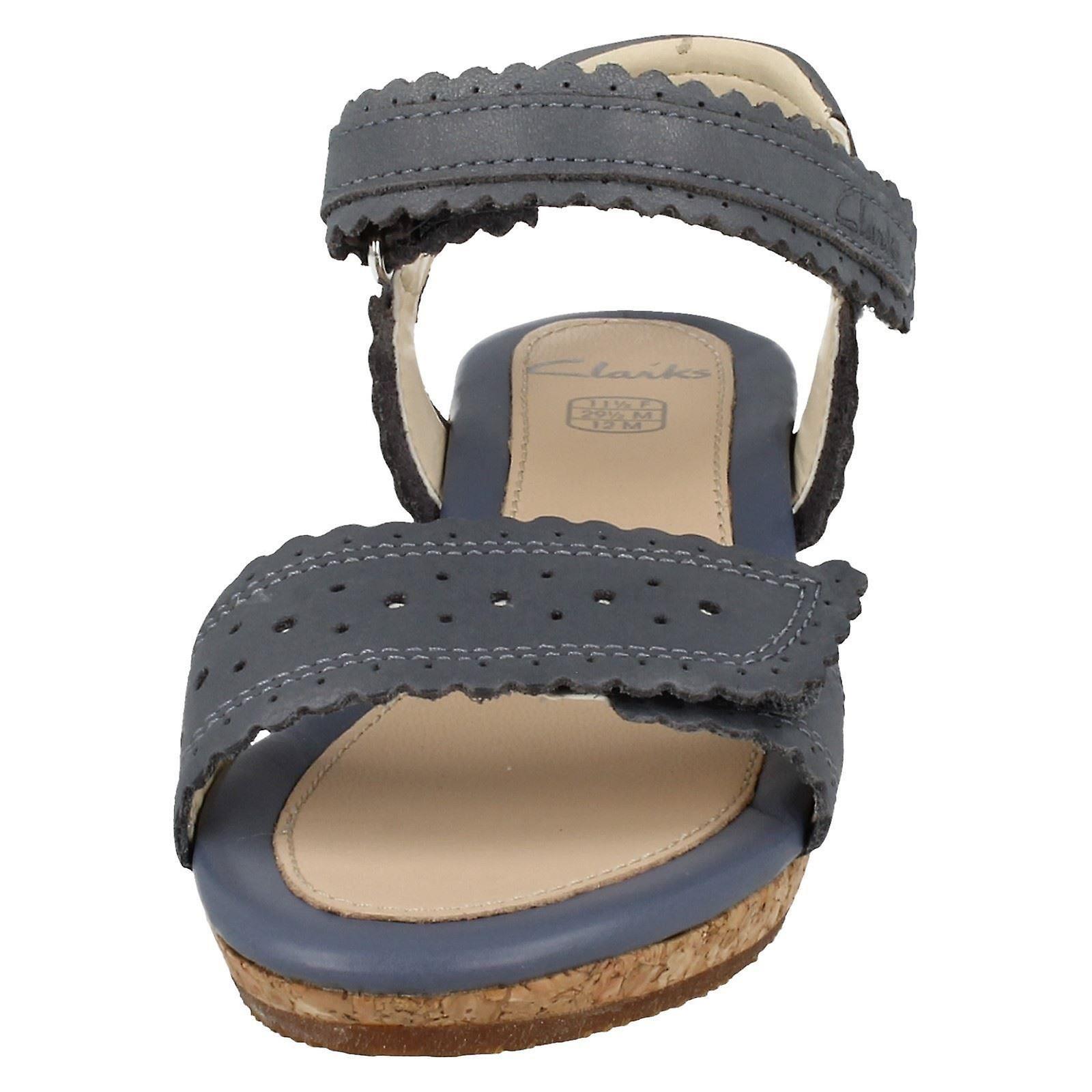 InfantJunior Girls Clarks Wedge Heel Summer Sandals Harpy Myth