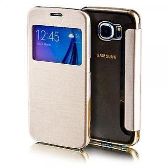 Smart cover window gold for Samsung Galaxy S7 edge G935 G935F