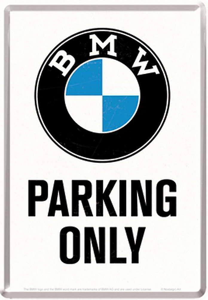 BMW Parking Only metal postcard / mini-sign 155mm x 110mm (na)