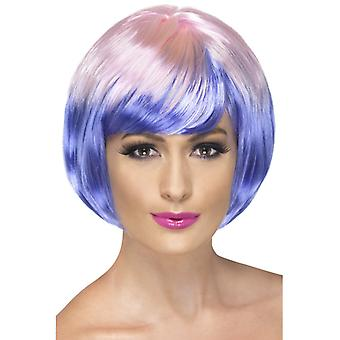 Babe wig bobbed Babeperücke purple pink stage short hair