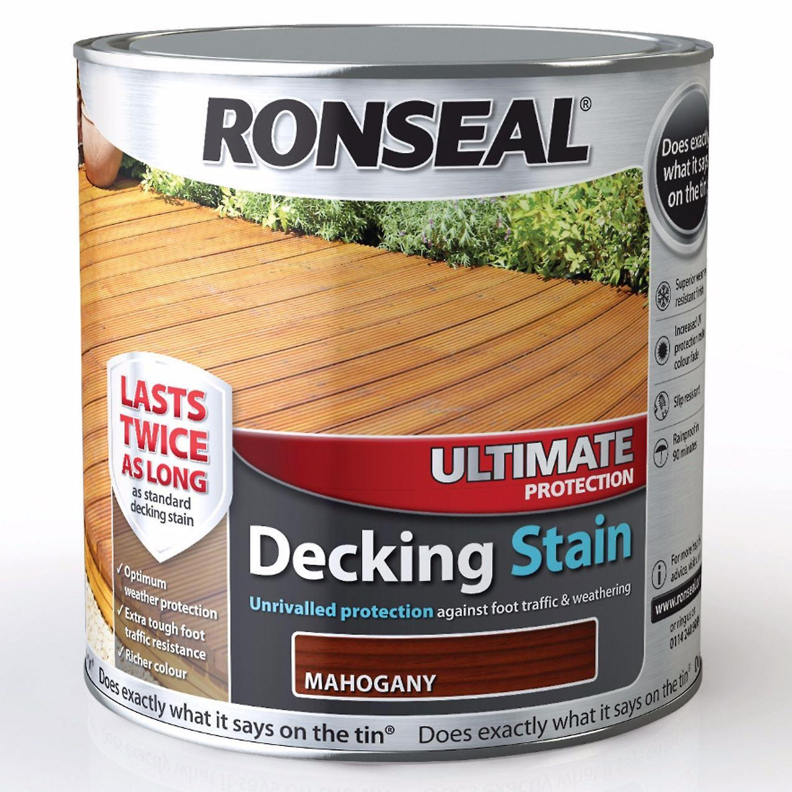 Ronseal 2.5 Litre Ultimate Protection Decking Stain - Mahogany