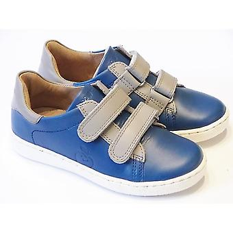 Shoo Pom Shoo Pom Blue Leather Casual Shoes With Grey Straps | Shoo Pom Ducky Scratch