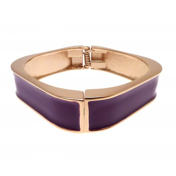 W.A.T GGold Style Square Purple Enamel Bangle