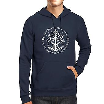 Lord Of The Rings White Tree Of Hope Men's Hooded Sweatshirt