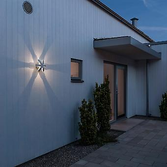 KONSTSMIDE Pescara Starfish moderna muro esterno a luce bianca