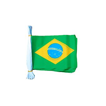 Brazil Flag Bunting Rectangular Flags 6m long 20 flags Polyester