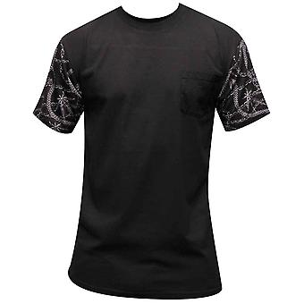Gauner & Burgen Chainleaf Pocket T-shirt Schwarz Multi