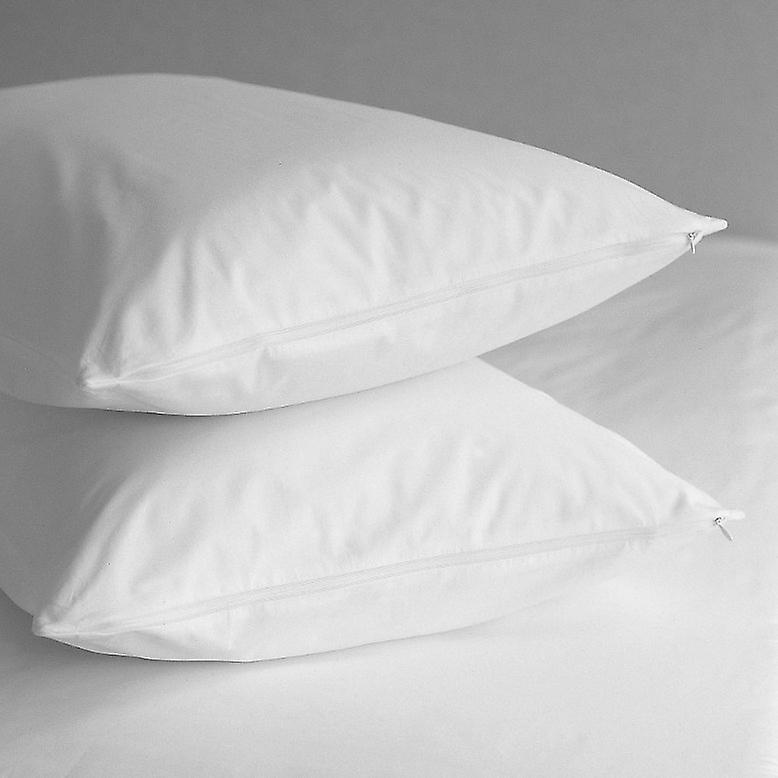Pillow Protector (Pair) Pure Cotton 200 thread Percale Teflon Coated