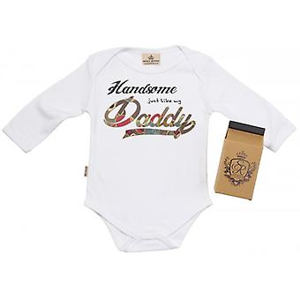Spoilt Rotten Handsome Like Daddy Baby Grow 100% Organic In Milk Carton